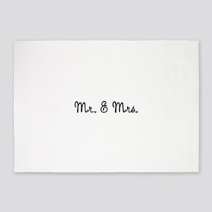 Mr. & Mrs. 5'x7'Area Rug