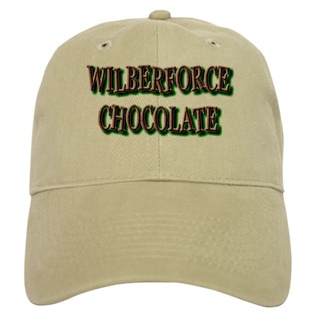 Chocolate Baseball Cap: WILBERFORCE HBCU CHOCOLATE Baseball Cap By CHOCOLATEDROP1