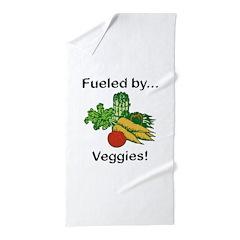 Fueled by Veggies Beach Towel