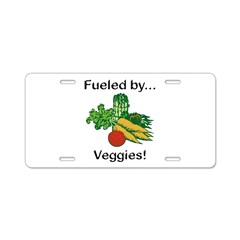 Fueled by Veggies Aluminum License Plate