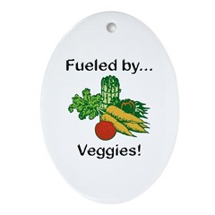 Fueled by Veggies Ornament (Oval)