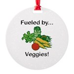 Fueled by Veggies Round Ornament