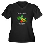 Fueled by Ve Women's Plus Size V-Neck Dark T-Shirt
