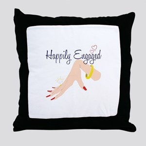 Happily Engaged Throw Pillow