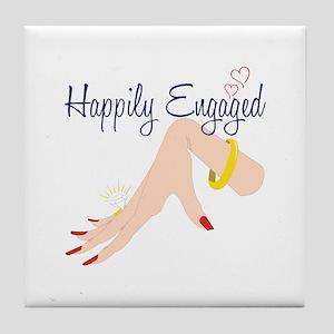 Happily Engaged Tile Coaster