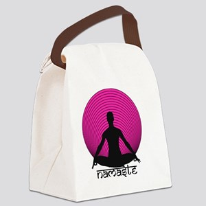 Namaste-hot-pink Canvas Lunch Bag