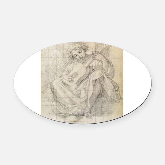 Albani - Angel Playing Lute - Circa 1600 - Pen on