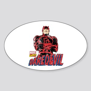 Vintage Daredevil Sticker (Oval)