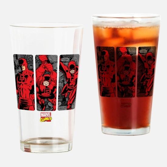 Daredevil Panels Drinking Glass
