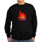 KTHXDIE in a fire Sweatshirt