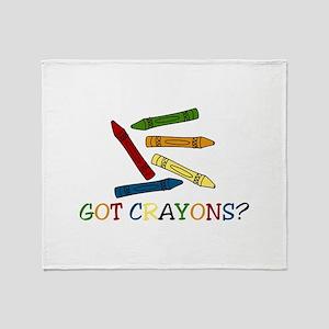 Got Crayons? Throw Blanket
