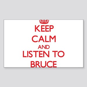 Keep Calm and Listen to Bruce Sticker