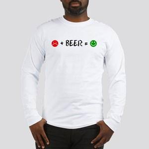 Plus Beer Is Happiness Long Sleeve T-Shirt
