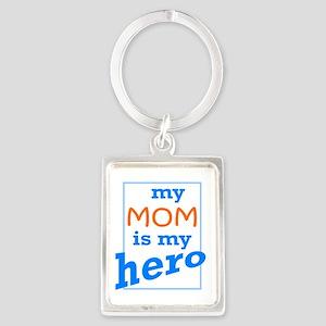 Mom Hero Portrait Keychain