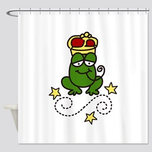 Royal Frog Shower Curtain