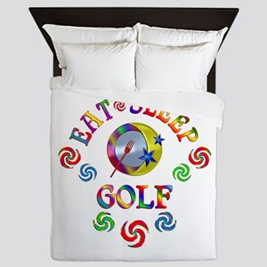 Eat Sleep Golf Queen Duvet
