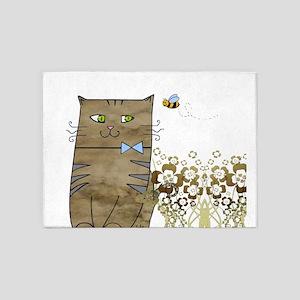 Smily Kitty 5'x7'Area Rug