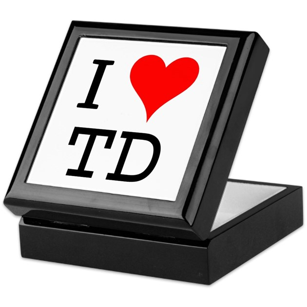 I Love TD Keepsake Box By Bluegreenred Simple T D Love