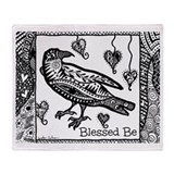 Blessed be raven Fleece Blankets