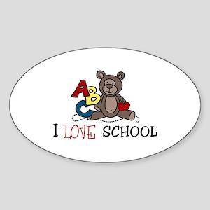 I Love School Sticker