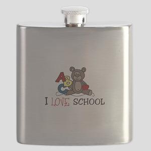 I Love School Flask