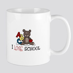 I Love School Mugs