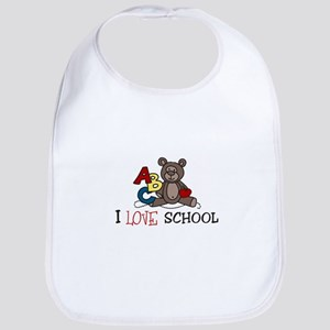 I Love School Bib