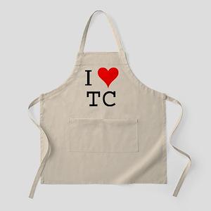 I Love TC BBQ Apron