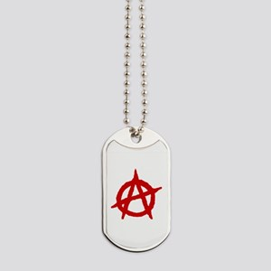 Anarchist 1 (red) Dog Tags