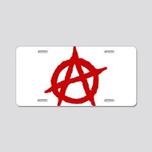 Anarchist 1 (red) Aluminum License Plate