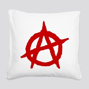 Anarchist 1 (red) Square Canvas Pillow