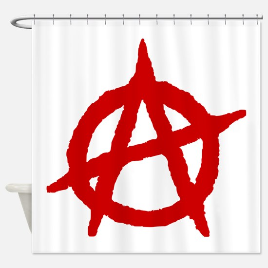 Anarchist 1 (red) Shower Curtain
