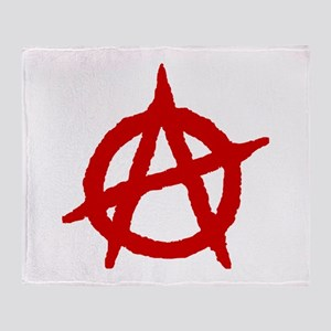 Anarchist 1 (red) Throw Blanket