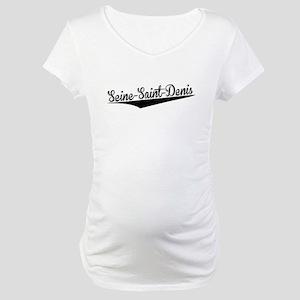 Seine-Saint-Denis, Retro, Maternity T-Shirt