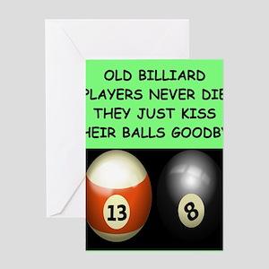 BILLIARDS12 Greeting Cards