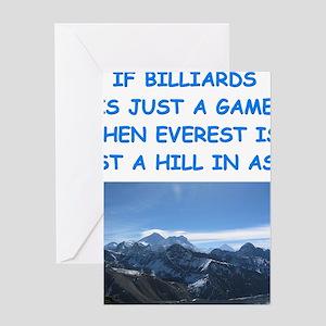 BILLIARDS7 Greeting Cards
