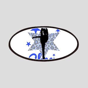 Blue Cheerleader Patches