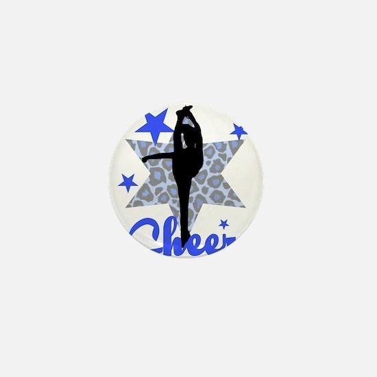 Blue Cheerleader Mini Button