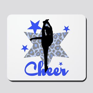 Blue Cheerleader Mousepad