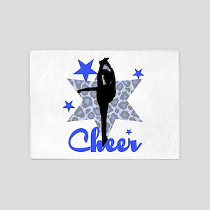 Blue Cheerleader 5'x7'Area Rug