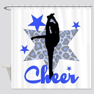 Blue Cheerleader Shower Curtain