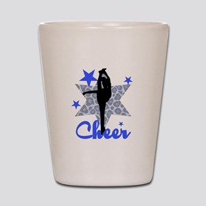Blue Cheerleader Shot Glass