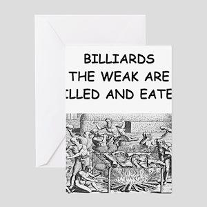 BILLIARDS6 Greeting Cards