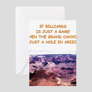 BILLIARDS5 Greeting Cards