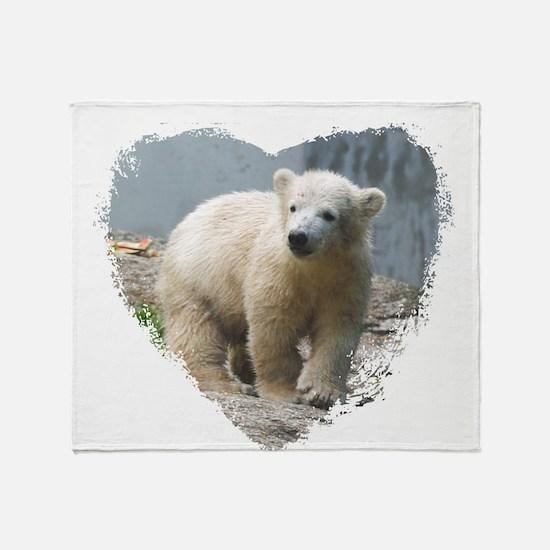 Cute Polar bear Throw Blanket