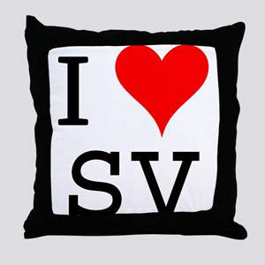 I Love SV Throw Pillow