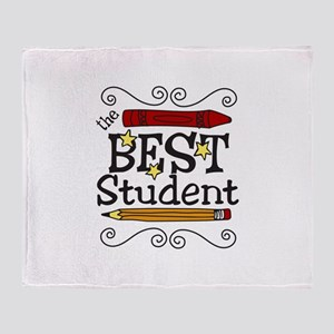 The Best Student Throw Blanket