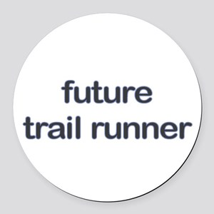 Future Trailrun Blue Round Car Magnet