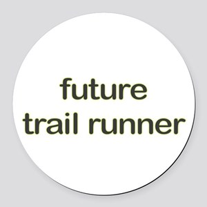 Future Trailrun Green Round Car Magnet