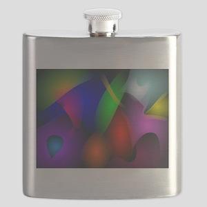 Striking Dark Abstract Art Flask
